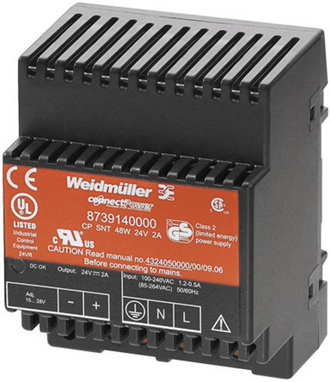 Zdroj na DIN lištu Weidmüller CP SNT, 8739140000, 2 A, 15 - 28 V/DC