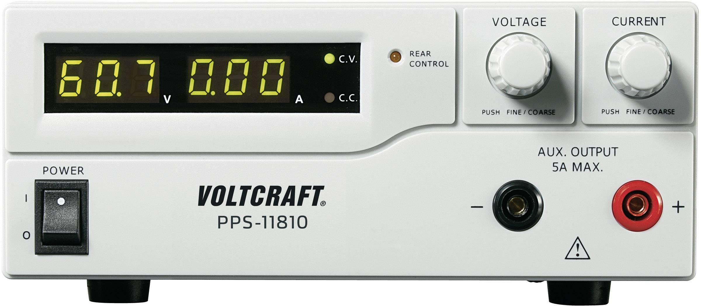 Spínaný laboratórny zdroj Voltcraft PPS-11810, 1 - 18 V, 0 - 10 A