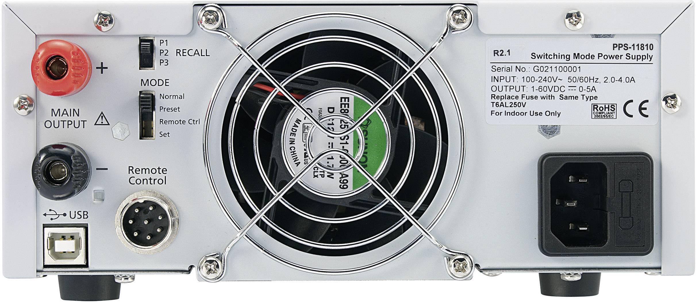 Spínaný laboratórny zdroj Voltcraft PPS-16005, 1 - 36 V, 0 - 10 A