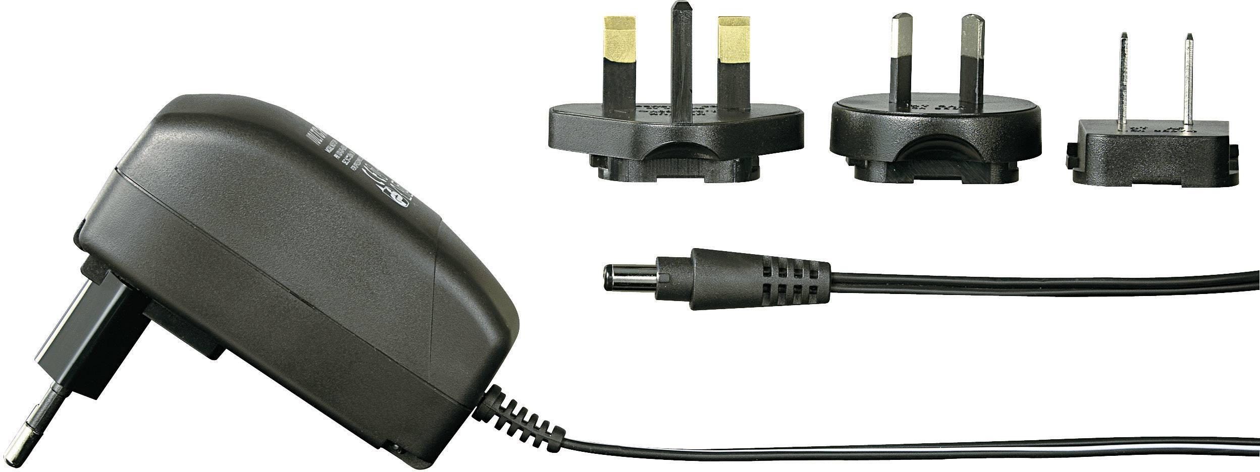 Síťový adaptér s redukcemi Voltcraft FPPS 5-7.5WP, 5 V/DC, 7.5 W