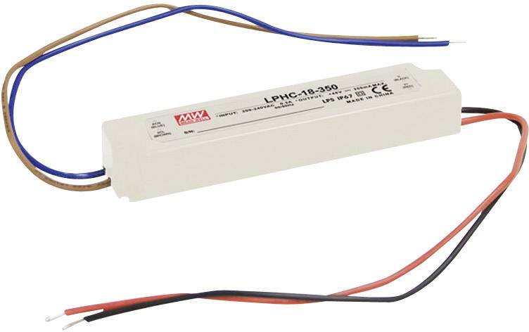 LED driver Mean Well LPHC-18-350, 0.35 A, 6 - 48 V/DC