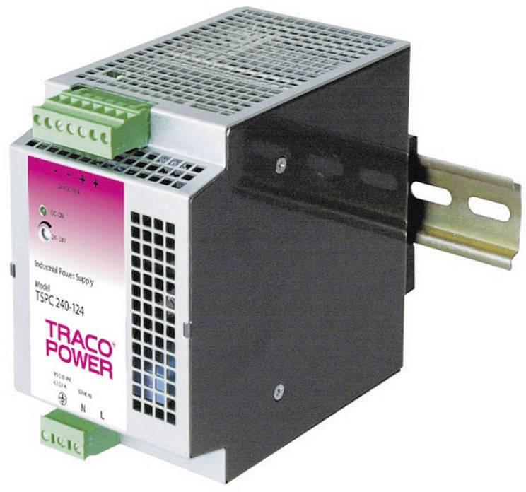 Sieťový zdroj na montážnu lištu (DIN lištu) TracoPower TSPC 240-124, 1 x, 24 V/DC, 10 A, 240 W