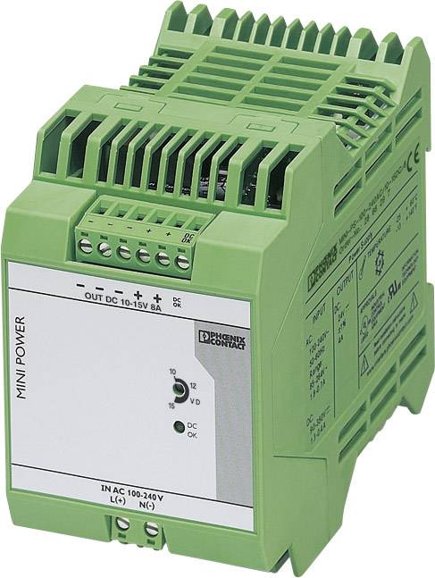 Zdroj na DIN lištu Phoenix Contact MINI-PS-100-240AC/10-15DC/8, 8 A, 10 - 15 V/DC