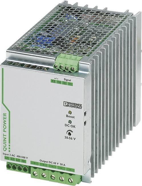 Zdroj na DIN lištu Phoenix Contact QUINT-PS/3AC/48DC/20, 20 A, 48 V/DC