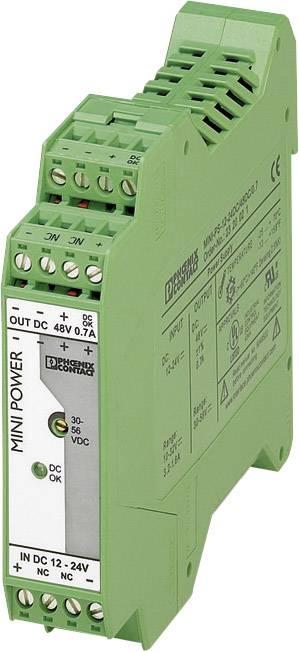 Zdroj na DIN lištu Phoenix Contact MINI-PS-12-24DC/48DC/0.7, 0,7 A, 48 V/DC
