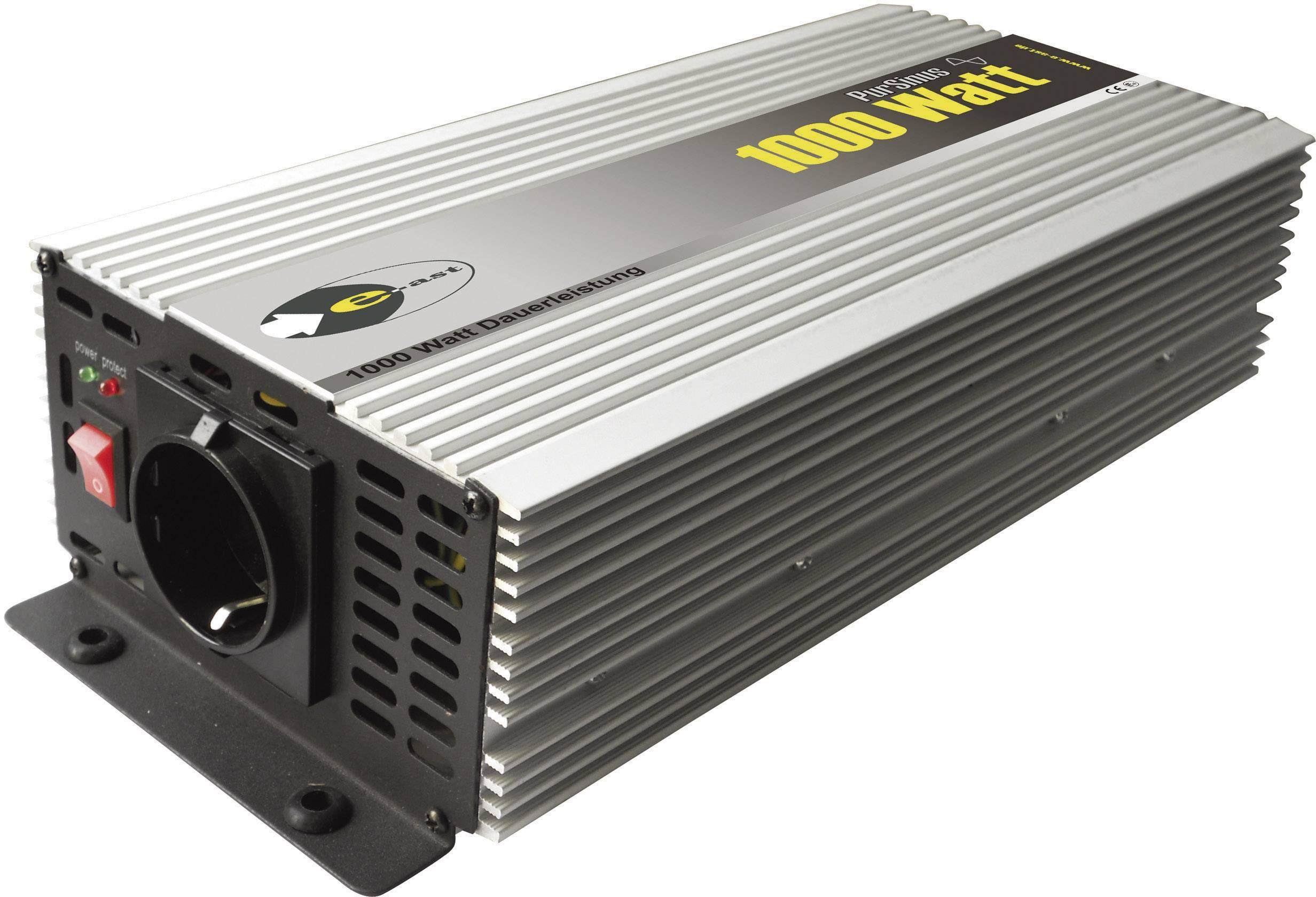 Sínusový menič napätia DC / AC e-ast HighPowerSinus HPLS 1000-12, 1000 W, 12 V/DC/230 V/AC, 1000 W