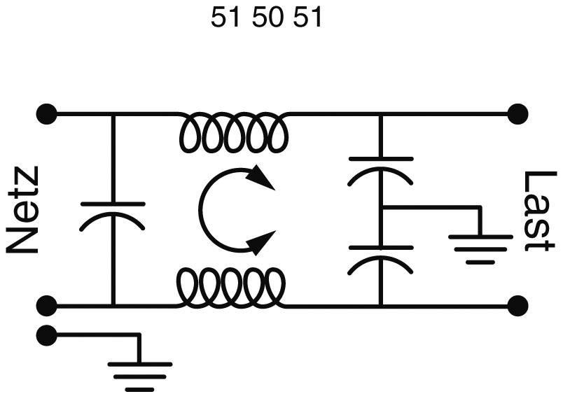 Sieťový filter Yunpen YB10T1 515450, s IEC zásuvkou, 250 V/AC, 10 A, 0.3 mH, (d x š x v) 57 x 25.25 x 52.3 mm, 1 ks