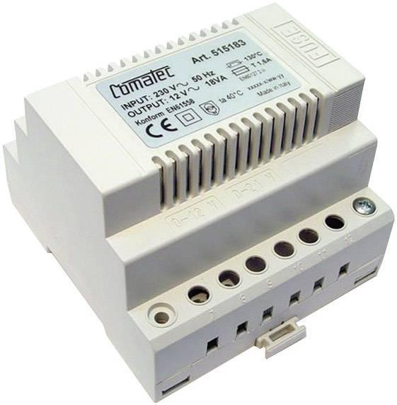 Napájecí zdroj na DIN lištu Comatec, 12 V/AC, 18 W