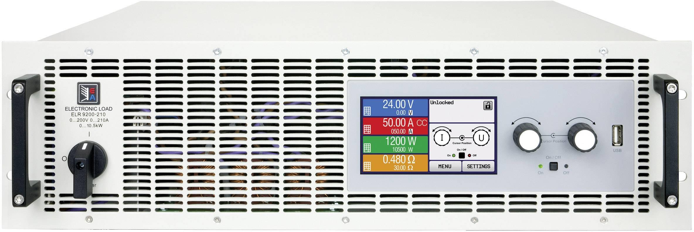 Elektronická zátěž EA Elektro-Automatik EA-ELR 9250-210 3U, 250 V/DC 210 A, 10500 W, Kalibrováno dle ISO