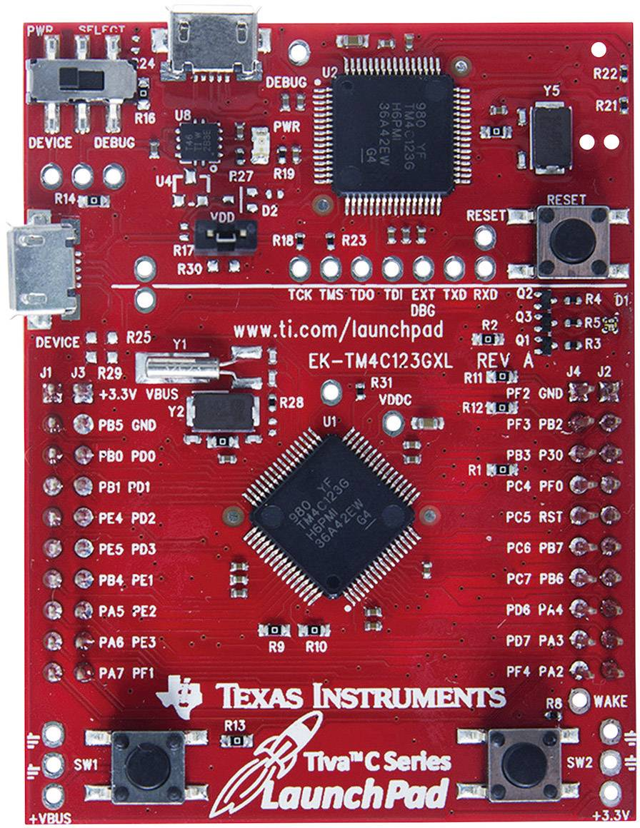 Vývojová doska Texas Instruments EK-TM4C123GXL