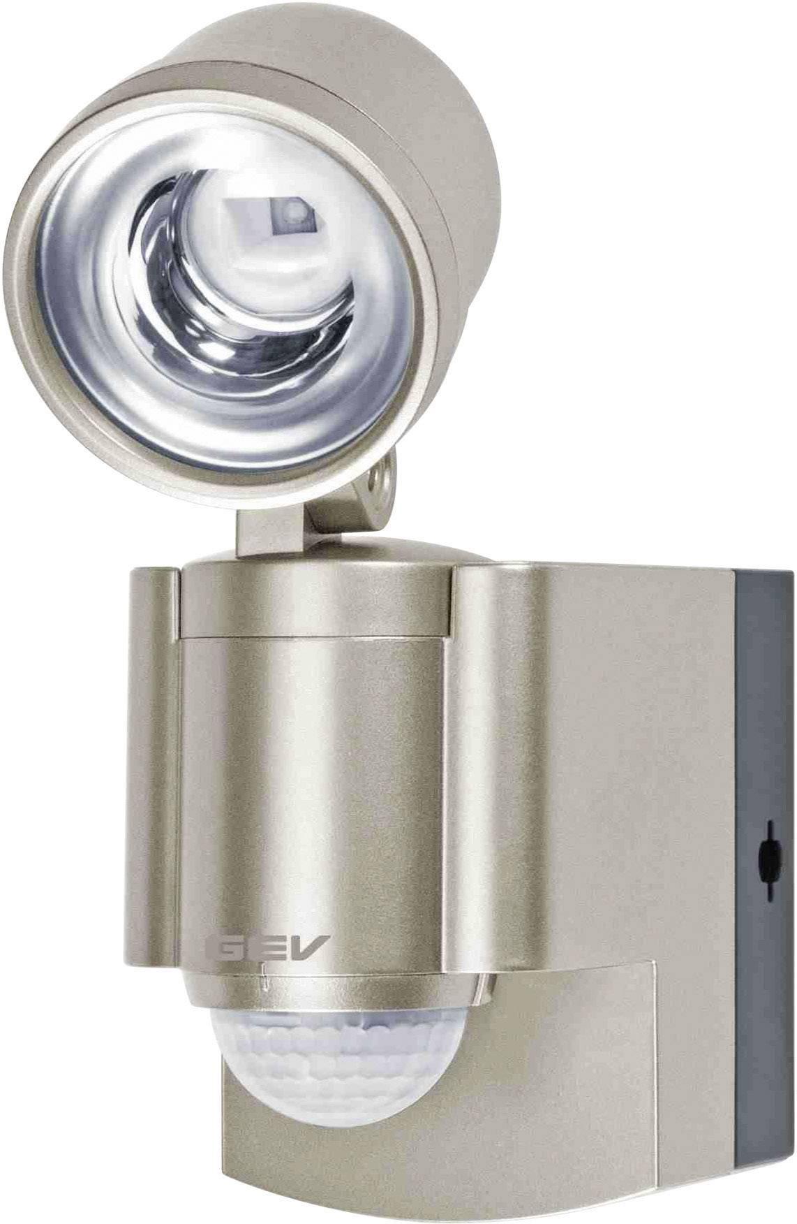 LEDvonkajšieosvetlenie s PIR senzorom GEV LLL 14800 014800, 3 W, neutrálne biela, champagne