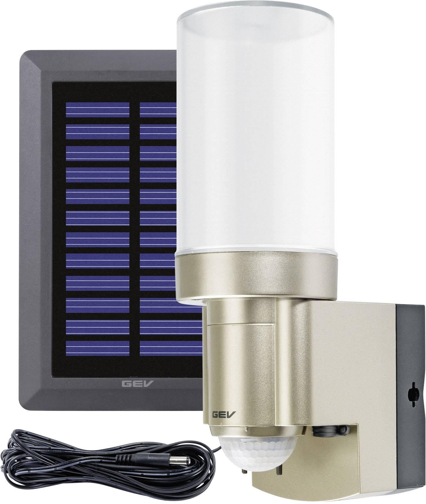 Vonkajšie solárne nástenné osvetlenie s PIR senzorom 3 W denné svetlo GEV 014831 LPL 14831 nerezová oceľ