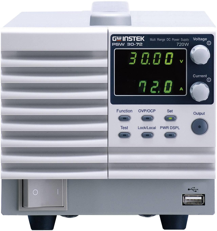 Laboratorní síťový zdroj GW Instek PSW30-72, 0 - 30 V/DC, 0 - 72 A, 720 W