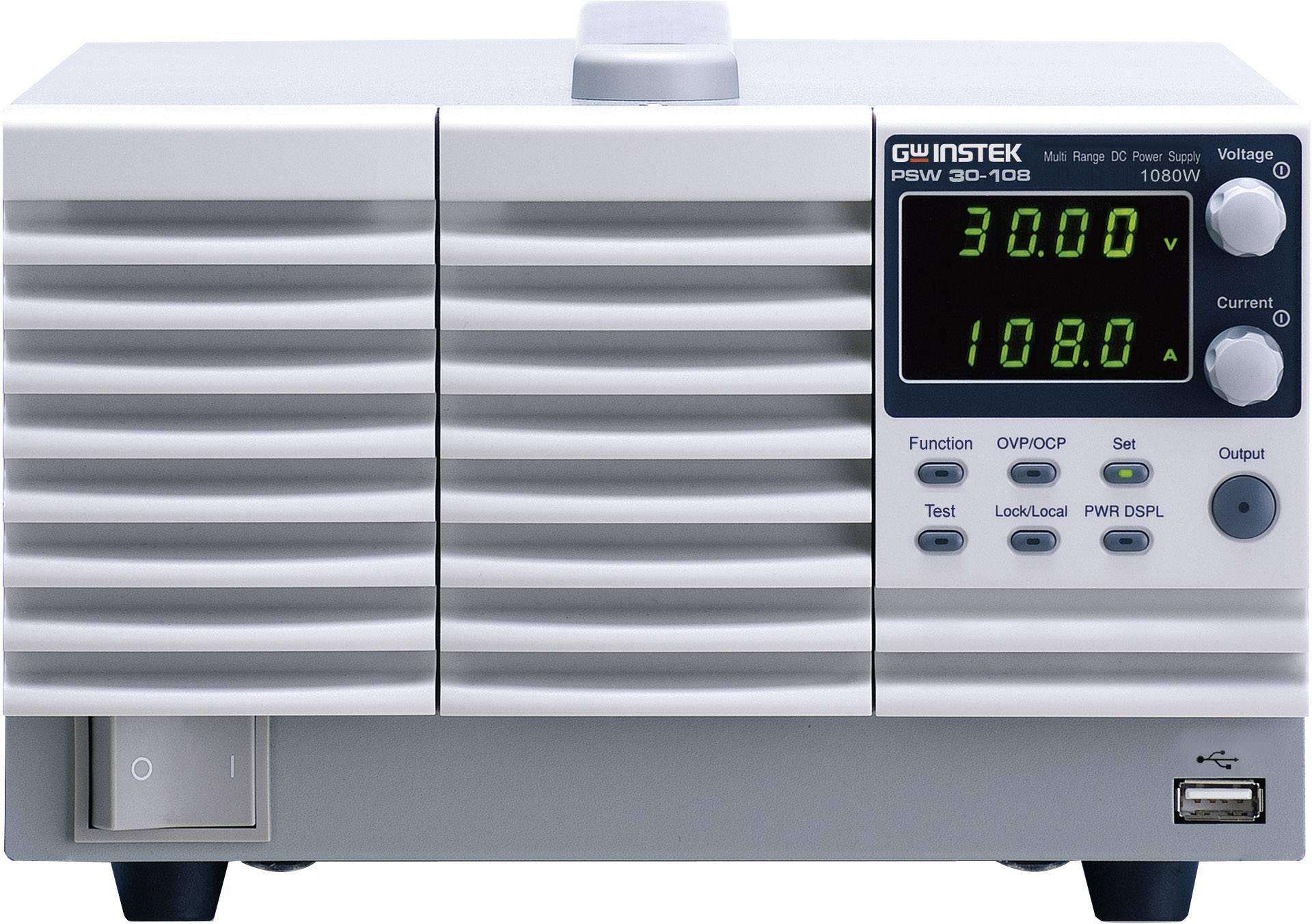 Laboratorní síťový zdroj GW Instek PSW30-108, 0 - 30 V/DC, 0 - 108 A, 1080 W