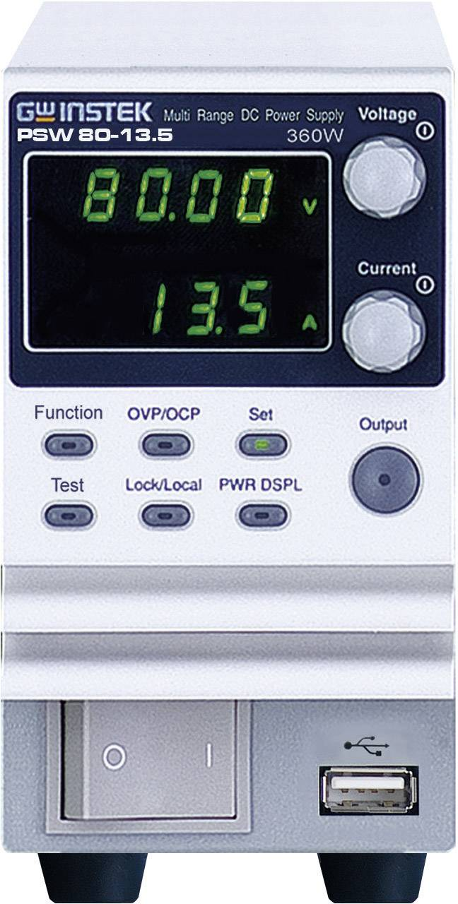 Laboratorní síťový zdroj GW Instek PSW80-13.5, 0 - 80 V/DC, 0 - 13 A, 360 W