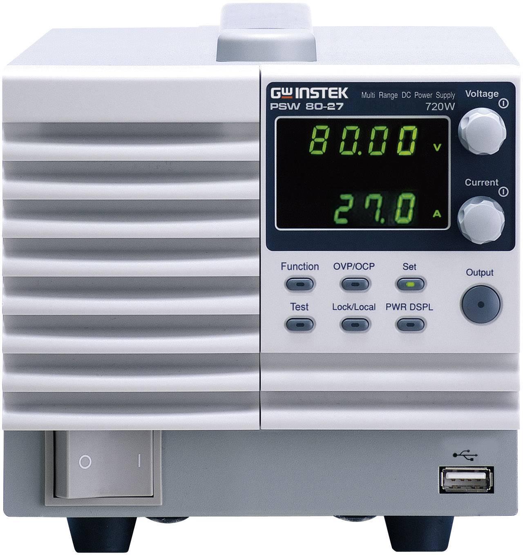 Laboratorní síťový zdroj GW Instek PSW80-27, 0 - 80 V/DC, 0 - 27 A, 720 W