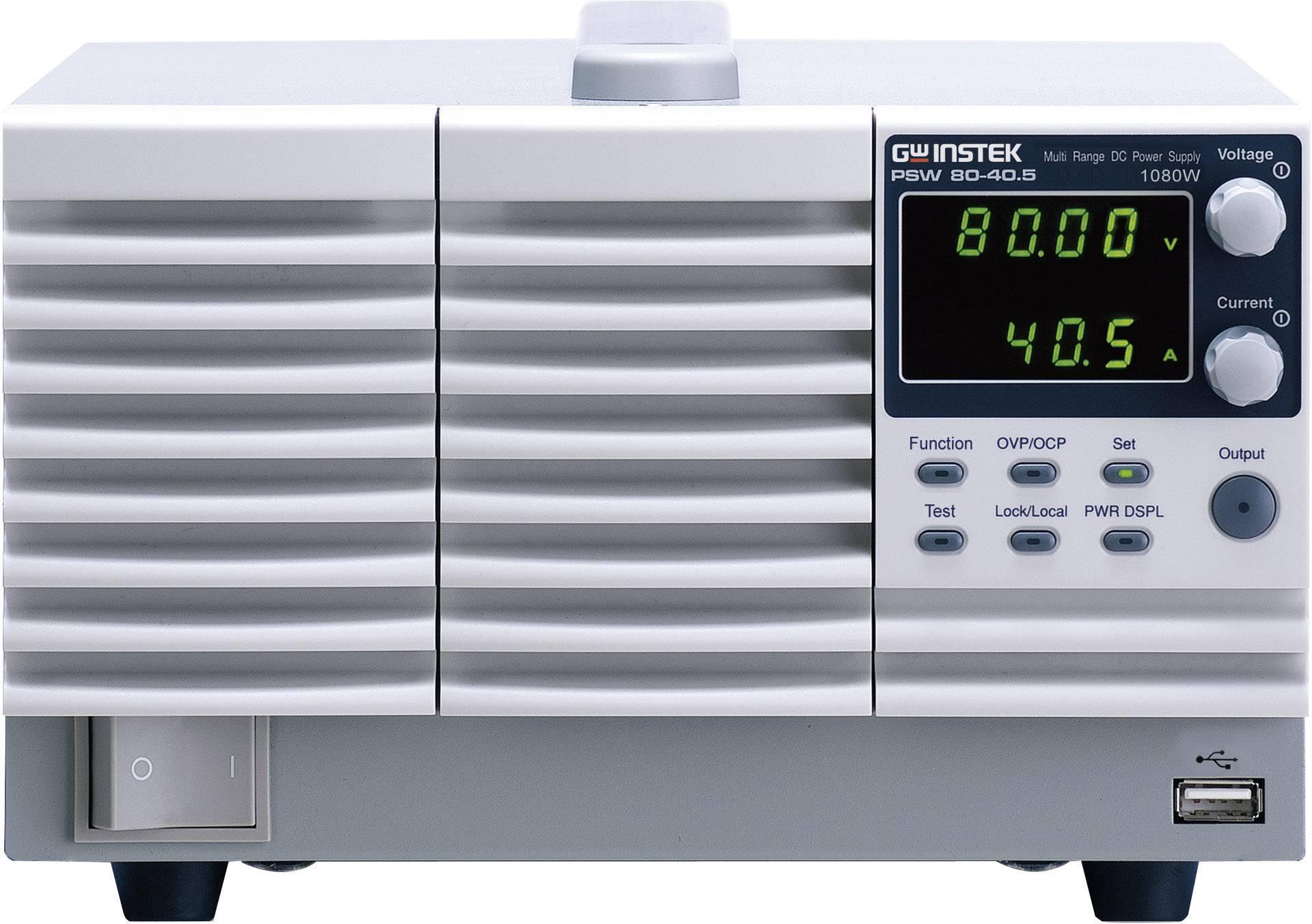 Laboratorní síťový zdroj GW Instek PSW80-40.5, 0 - 80 V/DC, 0 - 40 A, 1080 W