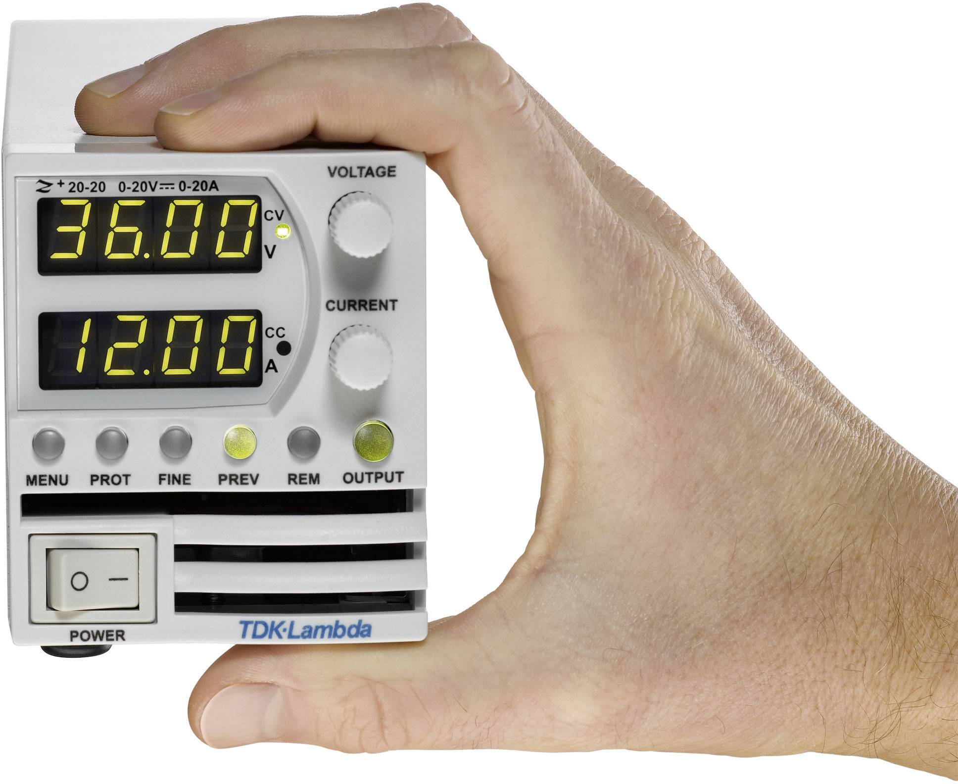 Programovatelný laboratorní síťový zdroj TDK-Lambda Z-60-7, 0 - 60 V/DC, 0 - 7 A, 420 W