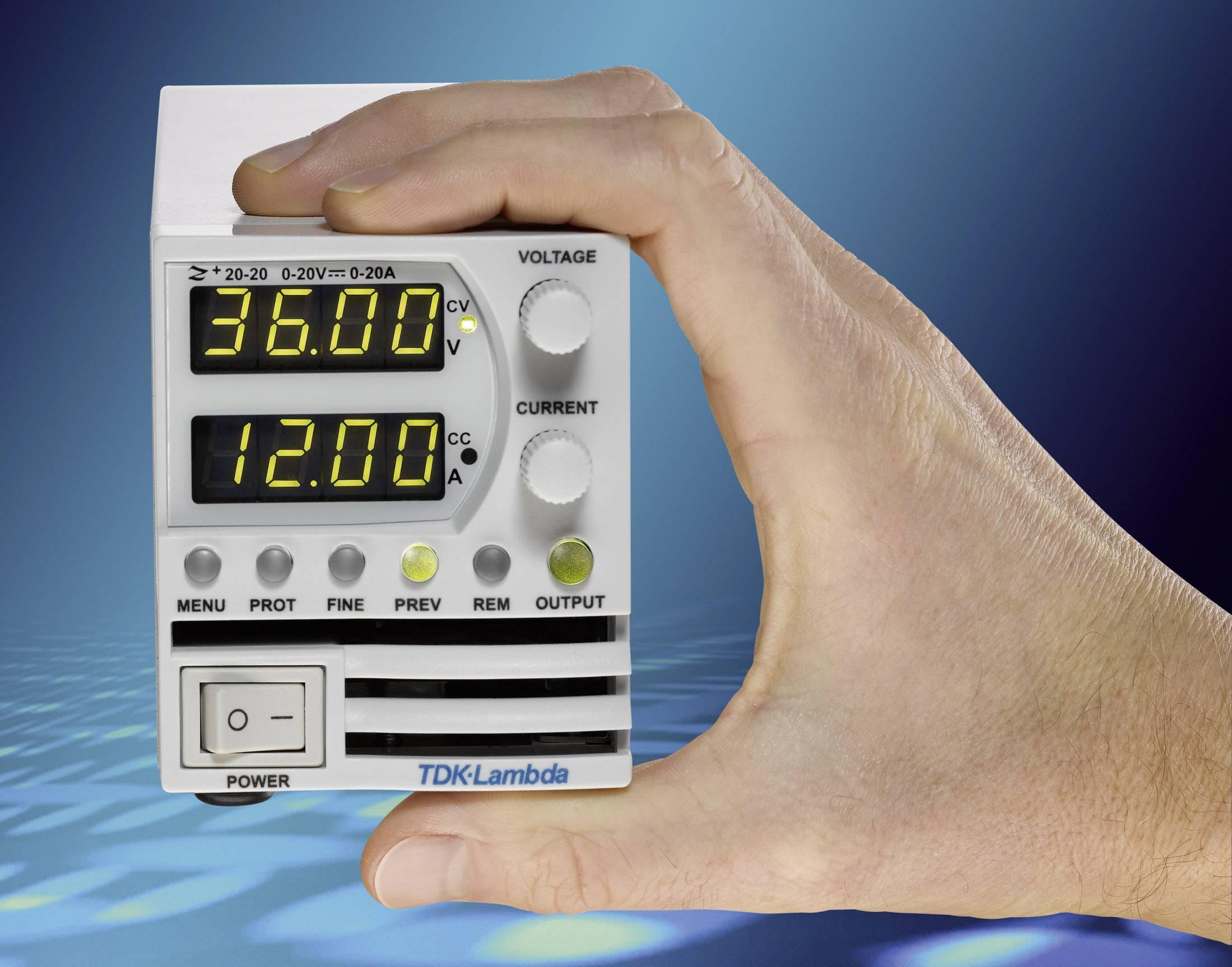 Programovateľný laboratórny sieťový zdroj TDK-Lambda Z-60-7, 0 - 60 V/DC, 0 - 7 A, 420 W