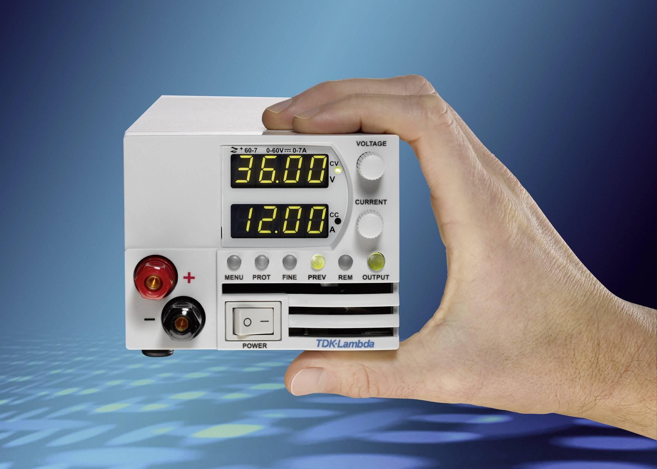 Programovateľný laboratórny sieťový zdroj TDK-Lambda Z-36-6/L, 0 - 36 V/DC, 0 - 6 A, 216 W