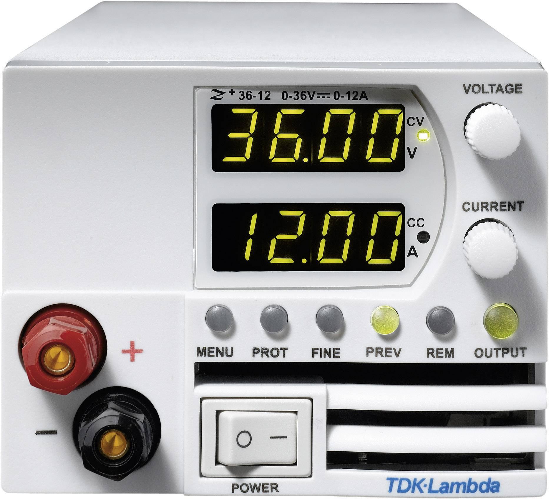 Programovatelný laboratorní síťový zdroj TDK-Lambda Z-36-6/L, 0 - 36 V/DC, 0 - 6 A, 216 W