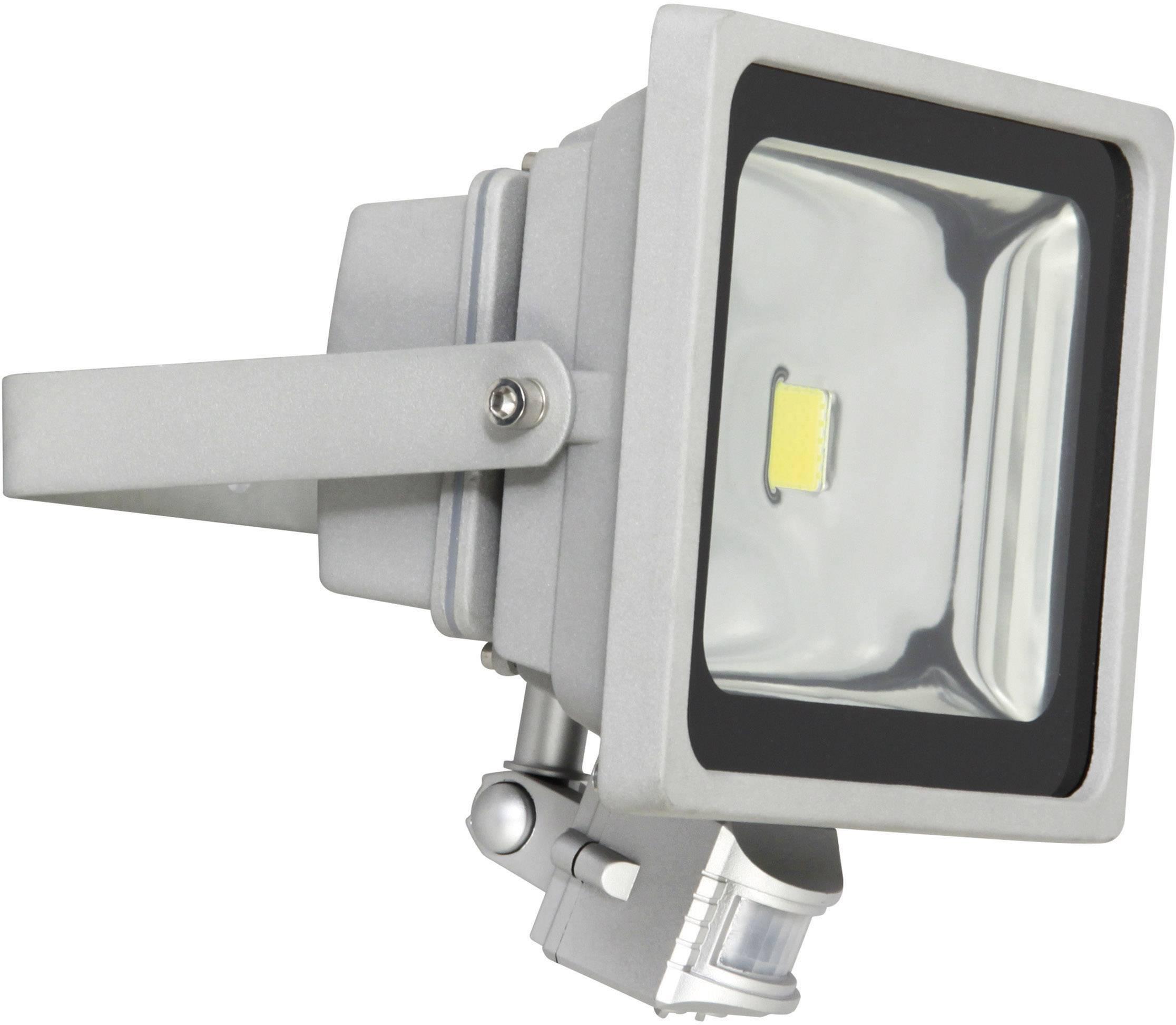 LEDvonkajšieosvetlenie s PIR senzorom XQ lite XQ-Lite XQ1224, 30 W, denné svetlo, sivá