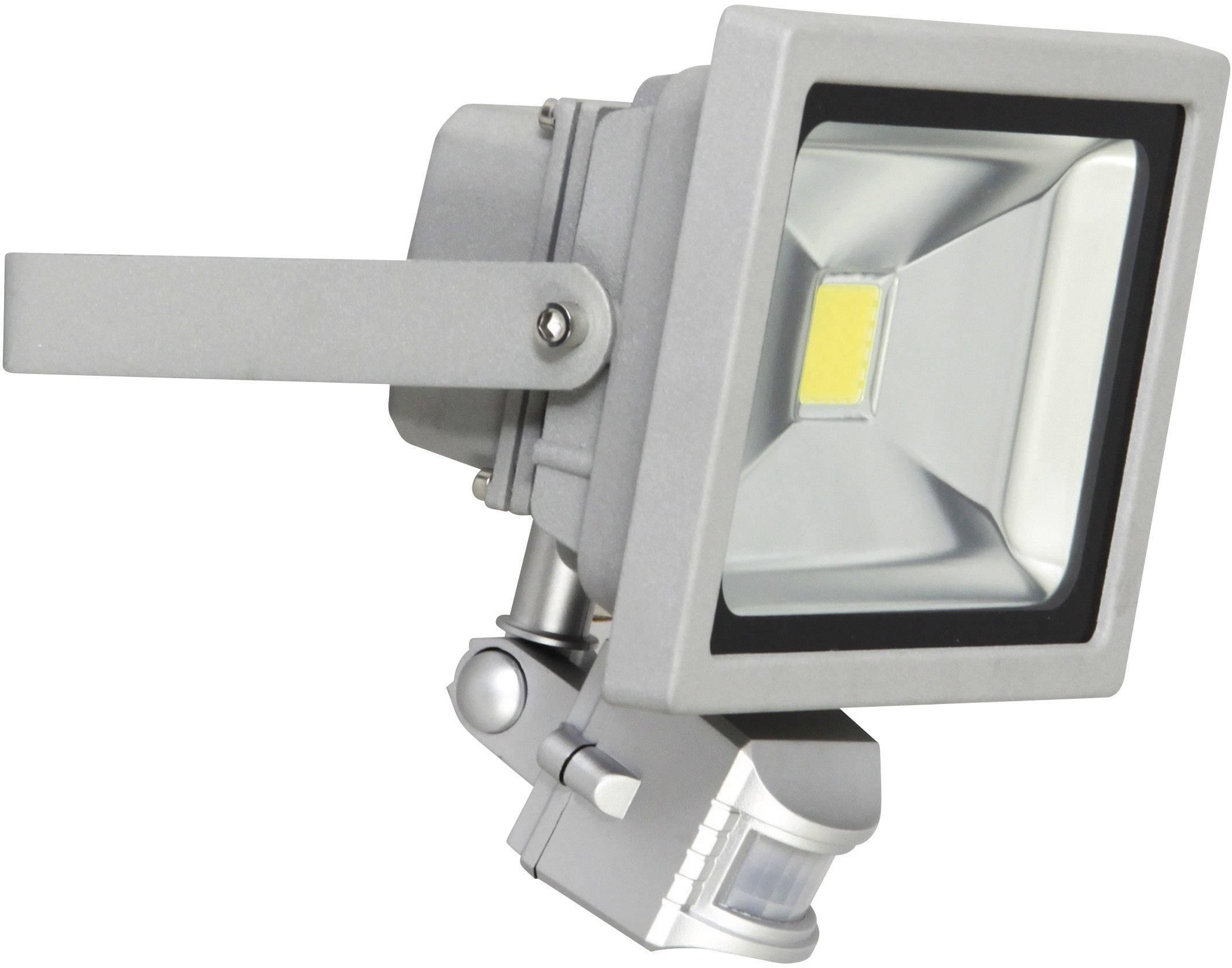 LEDvonkajšieosvetlenie s PIR senzorom XQ lite XQ-Lite XQ1221, 20 W, denné svetlo, sivá