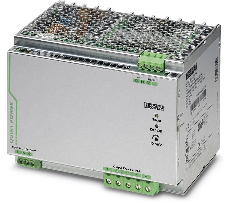 Síťový zdroj na DIN lištu Phoenix Contact QUINT-PS/ 1AC/48DC/20, 1 x, 48 V/DC, 20 A, 960 W
