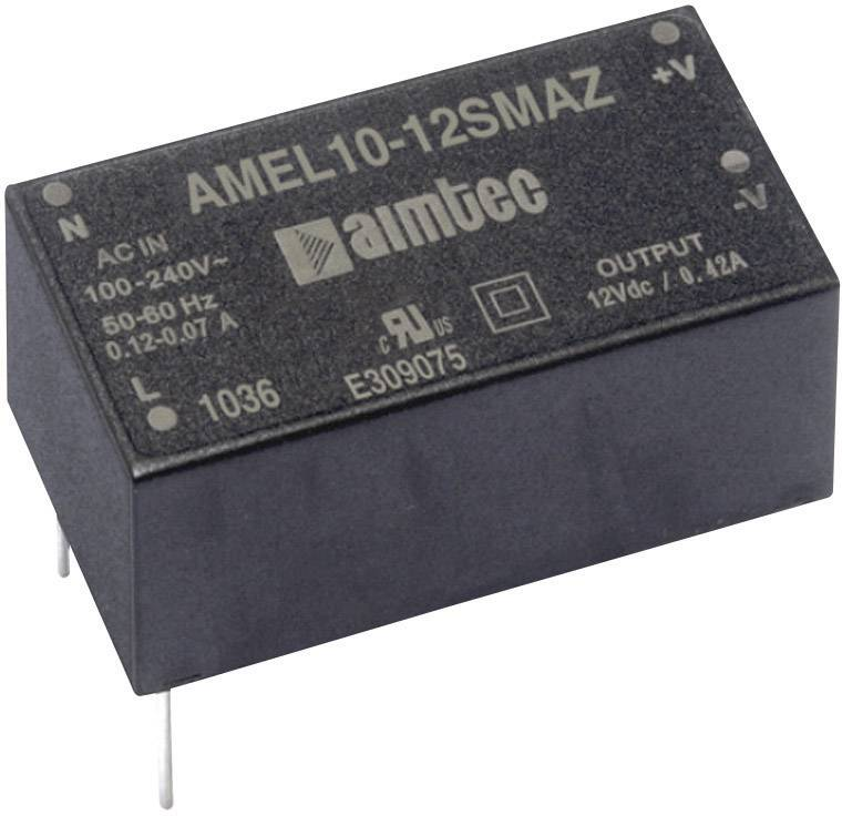 Sieťový zdroj AC/DC do DPS Aimtec AMEL10-3.315DMAZ, 15 V/DC, 0.9 A, 8 W