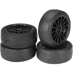 Kompletné kolesá Slick Absima 2510001 pre cestný model, 61 mm, 1:10, 4 ks, čierna