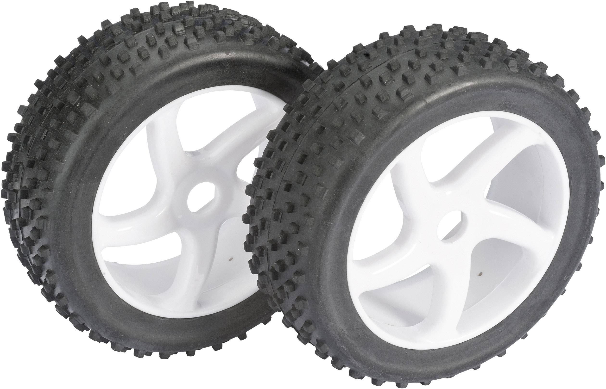 Kompletné kolesá štvrohran Multispike Absima 2520012 pre buggy, 112 mm, 1:8, 2 ks, biela
