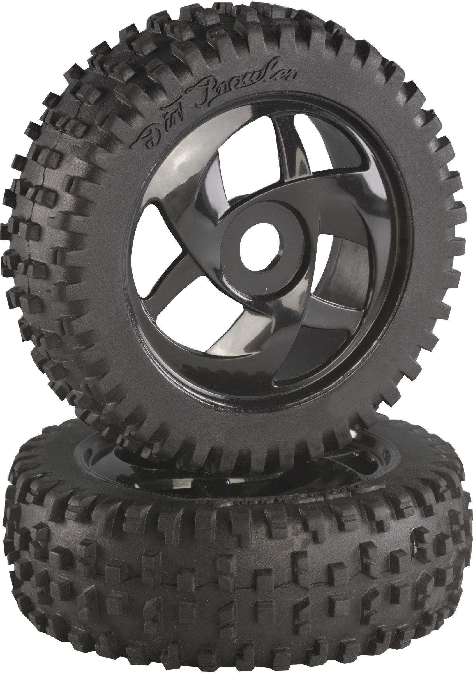 Kompletné kolesá Block-Spike Absima 2520014 pre buggy, 112 mm, 1:8, 2 ks, čierna