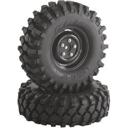 Kompletné kolesá Offroad V Block Absima 2500030 pre crawler, 108 mm, 1:10, 2 ks, čierna