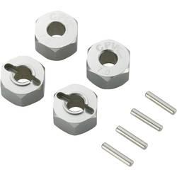 Unašeč kola 12 mm 6-hraný Reely 57817T, 7 mm, titanový hliník, 4 ks