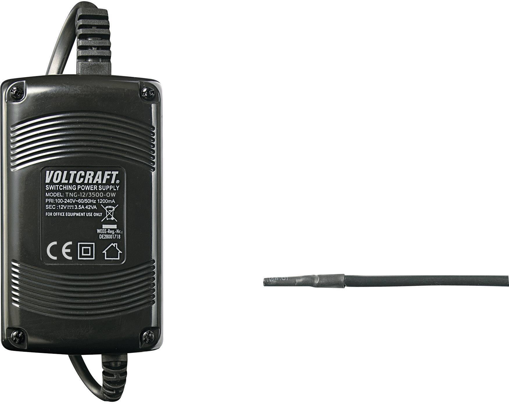 Síťový adaptér Voltcraft TNG-12/3500-OW, 12 VDC, 42 W