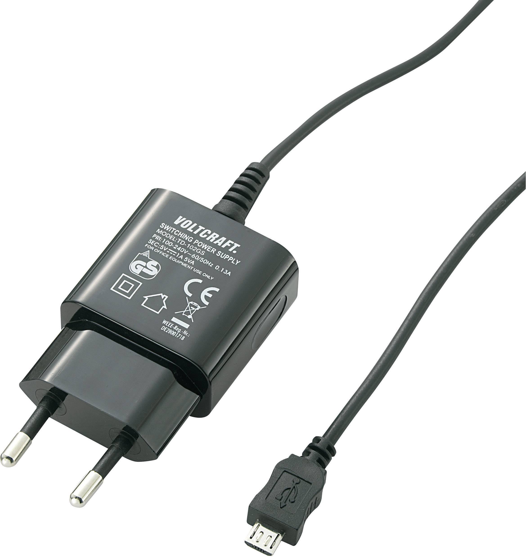 USB nabíječka VOLTCRAFT SPS-1000 MicroUSB, 1000 mA, černá