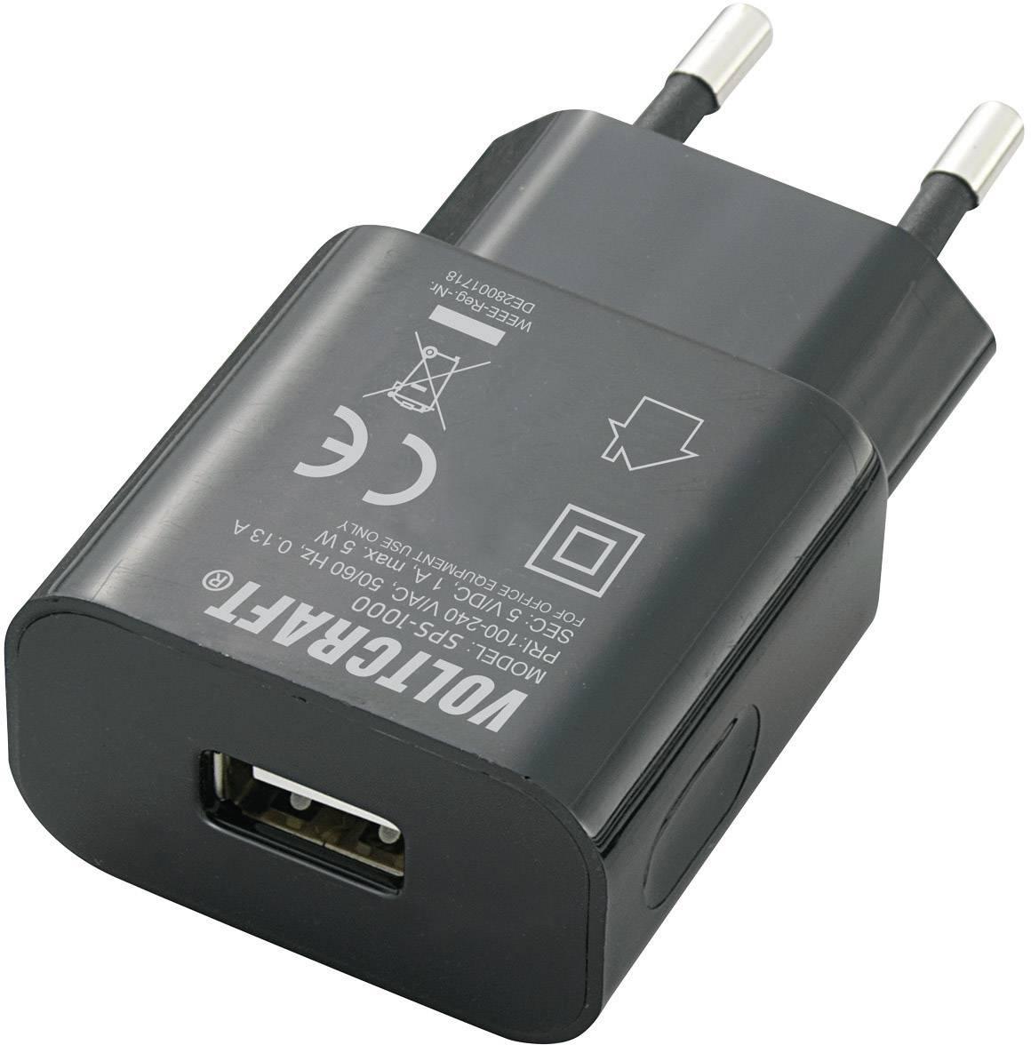 USB nabíječka VOLTCRAFT SPS-1000 USB, černá