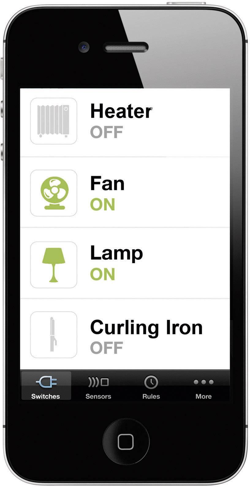 Spínacia zásuvka cez smartfón Belkin WeMo F7C027ea, Android a iOS