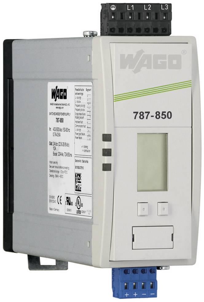 Spínaný síťový zdroj WAGO EPSITRON® 787-850 na DIN lištu, 24 V/DC, 10 A