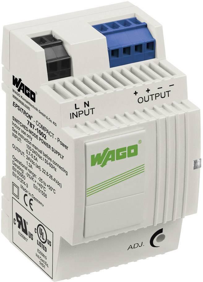 Zdroj na DIN lištu Wago Epsitron Compact Power 787-1002, 1,3 A, 24 V/DC