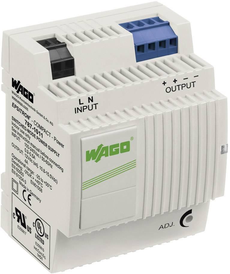 Zdroj na DIN lištu Wago Epsitron Compact Power 787-1011, 4 A, 12 V/DC