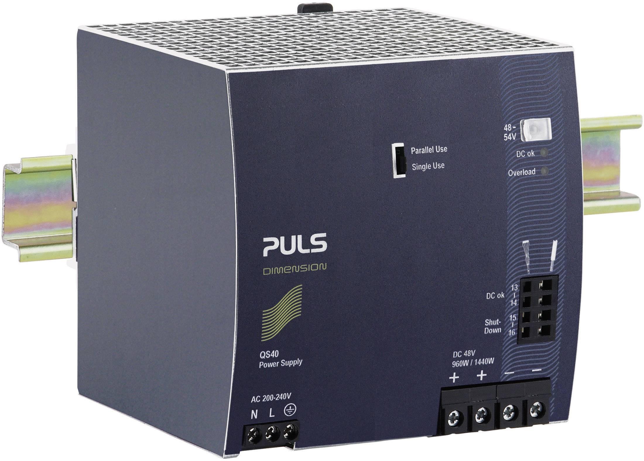 Zdroj na DIN lištu PULS Dimension QS40.484, 20 A, 48 V/DC