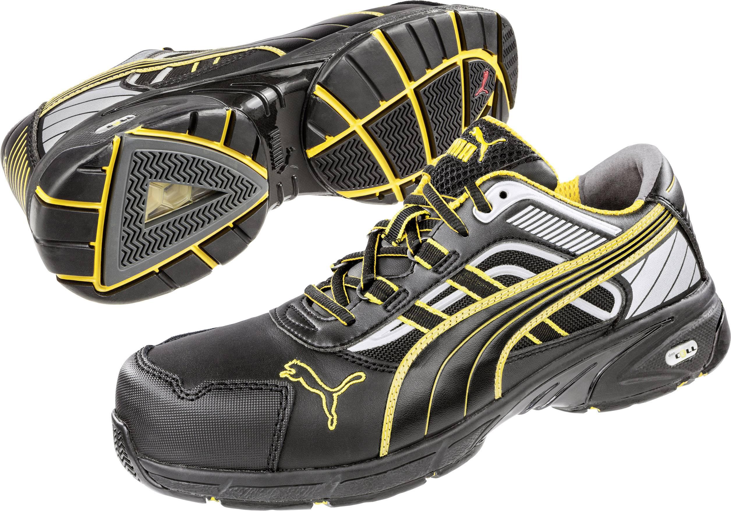 Bezpečnostní obuv S3 PUMA Safety Pace Black Low 642500, vel.: 44, černá, žlutá, 1 pár