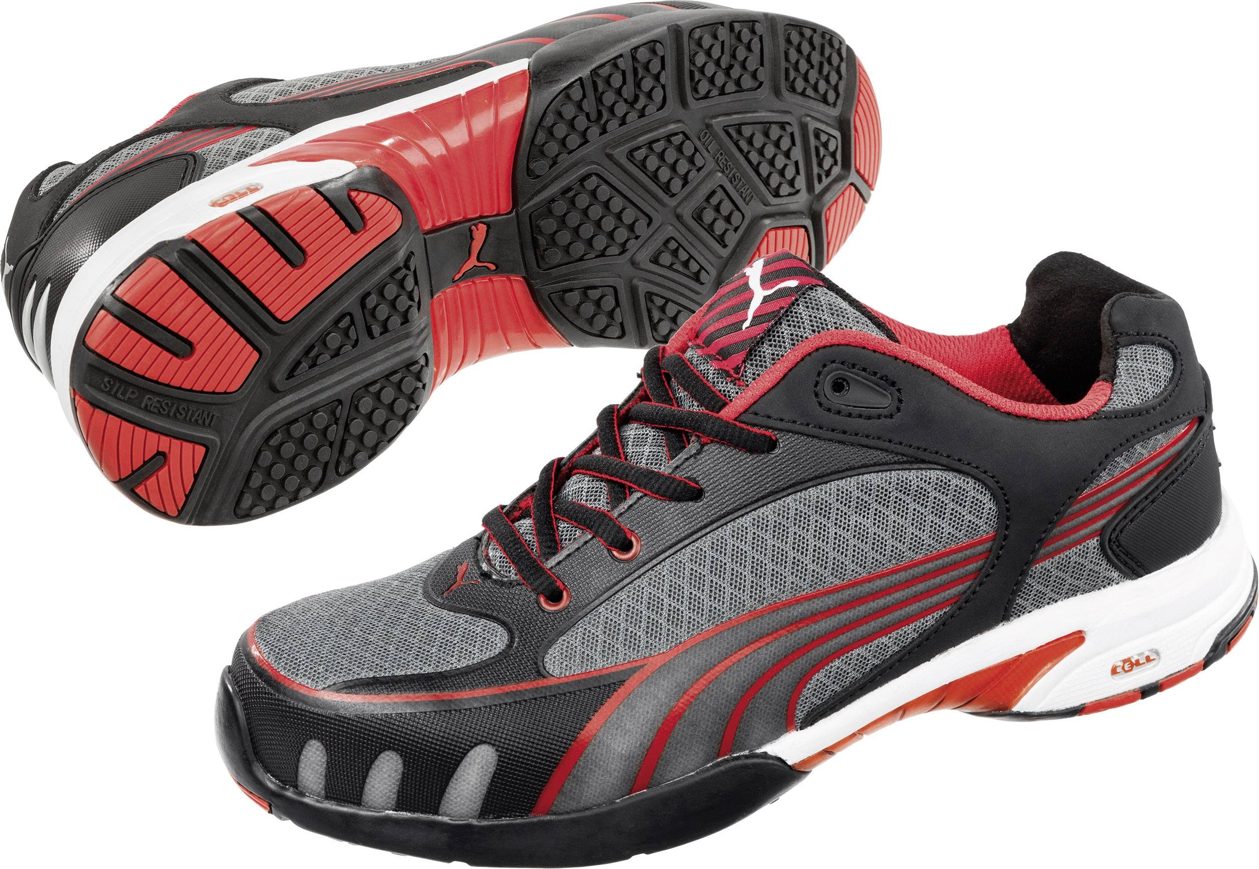 Bezpečnostná obuv S1 PUMA Safety Fuse Motion Red Wns Low 642870, veľ.: 38, čierna, červená, 1 pár