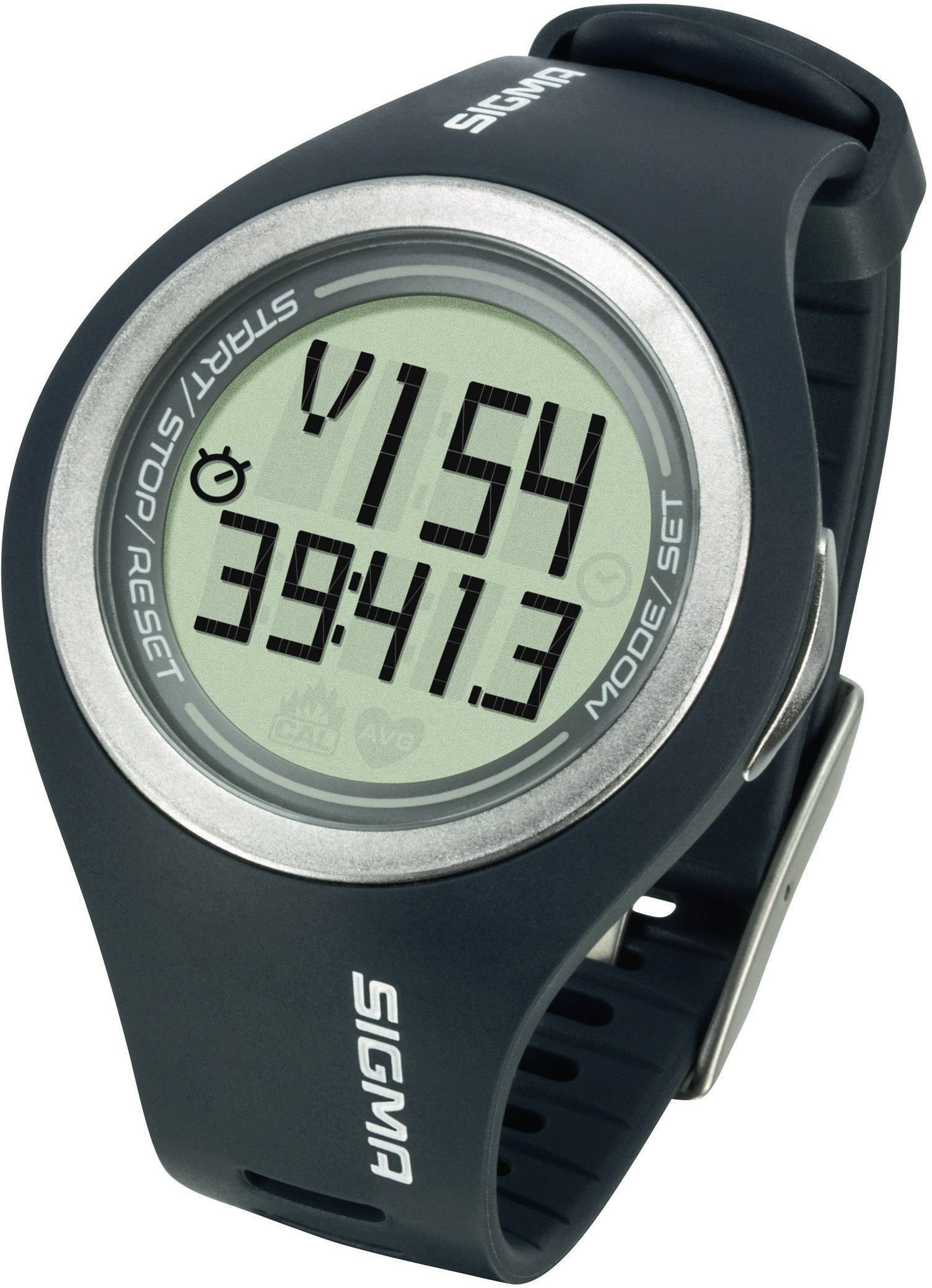 Hodinky s měřením pulzu sporttester Sigma PC 22.13, pánské, šedá