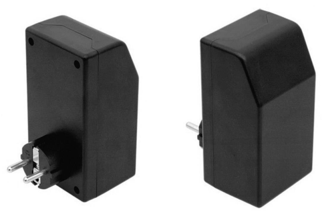 Pouzdro zástrčky Strapubox SG 1021, 121 x 66 x 55 , plast, černá