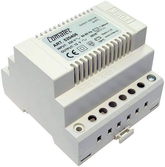 Napájecí zdroj na DIN lištu Comatec, TBD203512F, 12 V/AC, 35 W