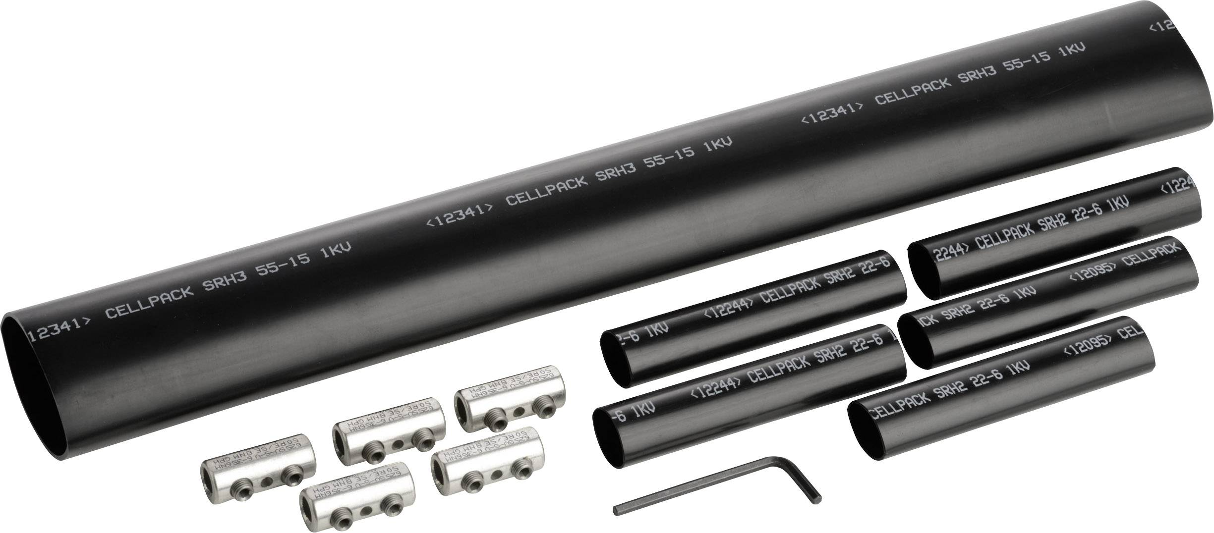 Smršťovací kabelová svorka CellPack 145363, 5 x 6 - 35 mm²