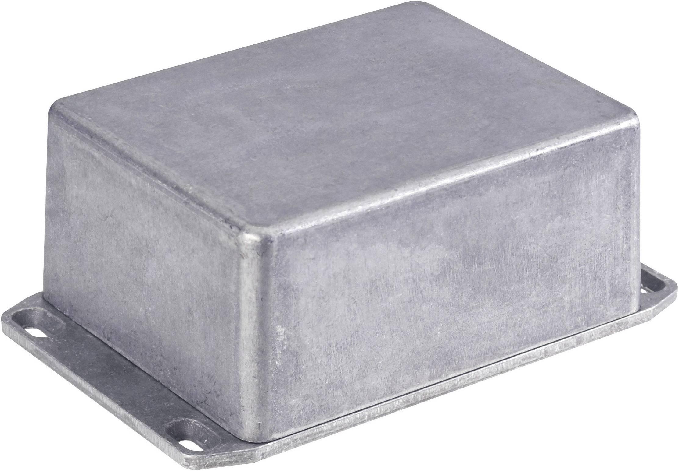 Tlakem lité hliníkové pouzdro Hammond Electronics, (d x š x v) 118,5 x 93,5 x 34 mm, hliníková