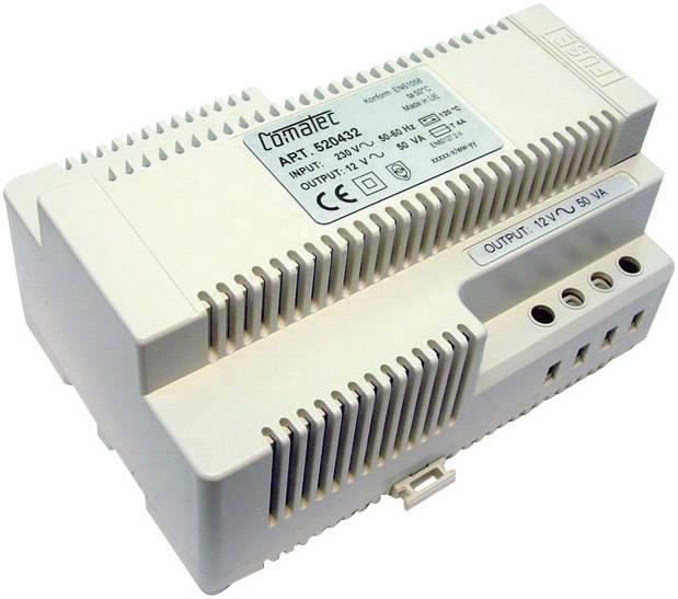 Napájecí zdroj na DIN lištu Comatec, TBD205012F, 12 V/AC, 50 W